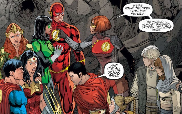 Những đứa trẻ của Justice League sắp đến từ tương lai để đá vào mông cha mẹ chúng