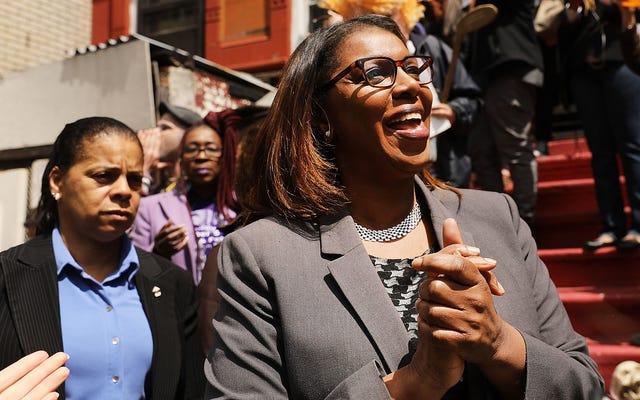 予備選挙でレティシア・ジェームズがニューヨークの州全体のオフィスで優勝する最初の黒人女性に近づきました