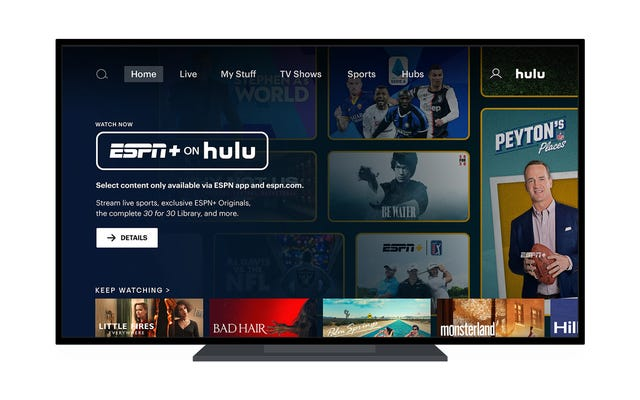 Avec ESPN + maintenant sur Hulu, c'est vraiment le meilleur service de streaming complet