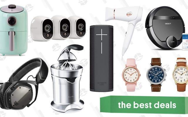 Najlepsze oferty na piątek: zegarki Timex, odkurzacze automatyczne, kamery bezpieczeństwa Arlo i nie tylko