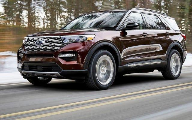 Vous pouvez obtenir des pneus auto-étanches de série sur certains Ford Explorer 2020