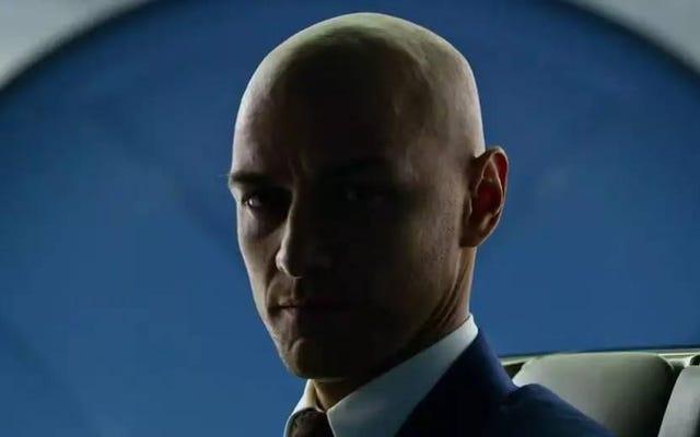 Mira a Patrick Stewart Mira a James McAvoy afeitarse la cabeza para X-Men: Apocalypse