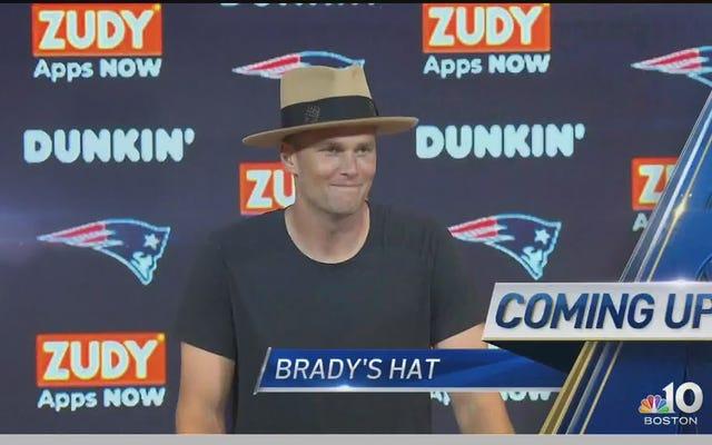 トムブレイディと彼の愚かな帽子をチェックしてください