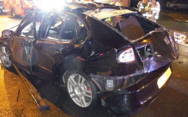 「それは全能のブームでした」:過度の芳香剤の使用にチョークで書かれた車の爆発