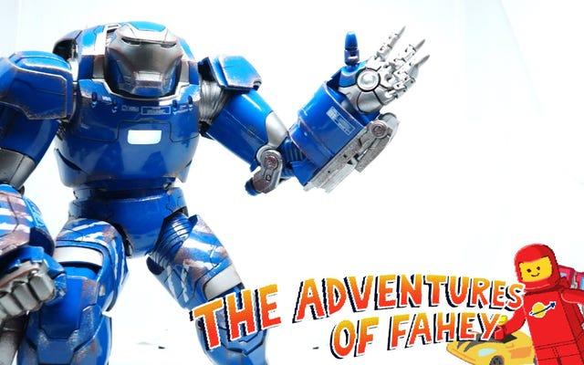 La figurine d'Iron Man est en fait du fer (enfin, assez proche)