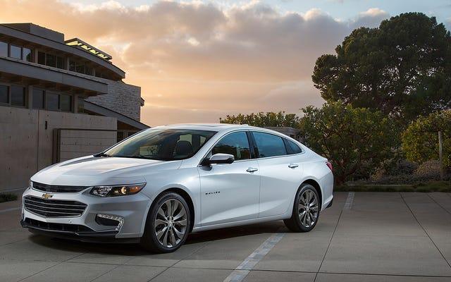 La General Motors non rinuncerà alle berline