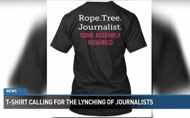 ウォルマートがジャーナリストのリンチを呼びかけるTシャツを引っ張る