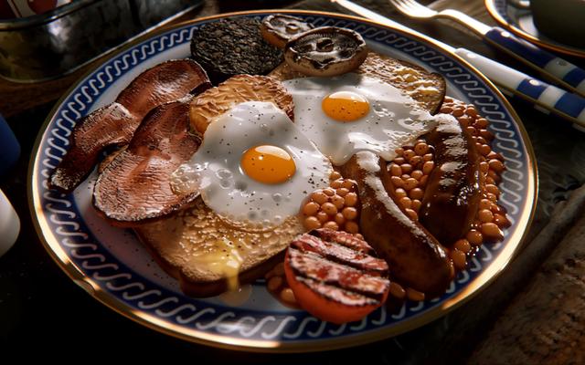 この朝食は美味しくリアルに見えますが、実際には夢の中で作られました