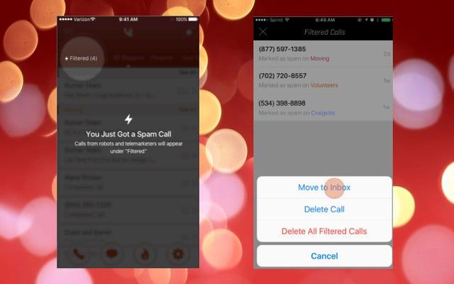 使い捨て電話番号アプリのBurnerは、スパム通話をブロックするためにNomorobo統合を取得します
