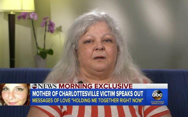 ヘザー・ヘイヤーの母親は、トランプが娘の葬式中に彼女に電話したと言います、今は彼に話しかけません