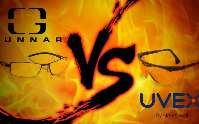 コンピューターグラス対決:Gunnar Optiks vs. Uvex