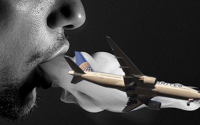 Vapingは公式かつ完全に商用便から禁止されています