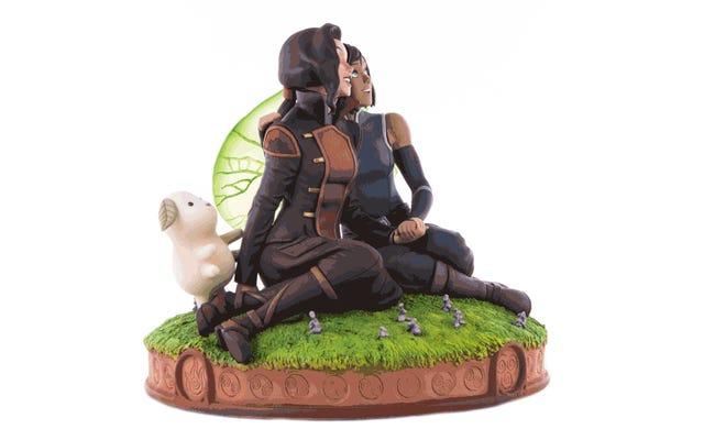 Miłość Korry i Asamiego została uwieczniona jako uroczy posąg awatara