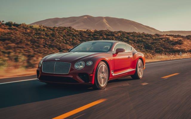 Le `` peuple '' est stupéfait de découvrir la Bentley Continental GT nommée `` voiture populaire de l'année ''