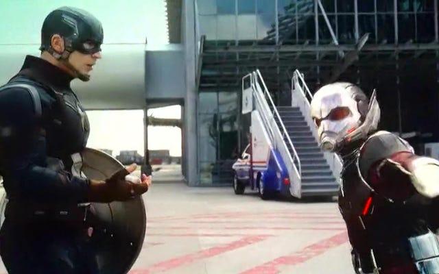 Holy Crap La voiture d'escalier de développement arrêtée est dans Captain America: Civil War