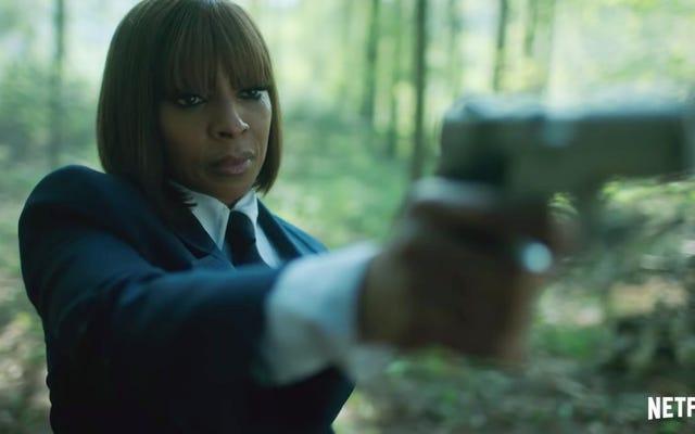 En el Apocalíptico Netflix Show Umbrella Academy de Gerard Way, Mary J. Blige es una asesina que viaja en el tiempo