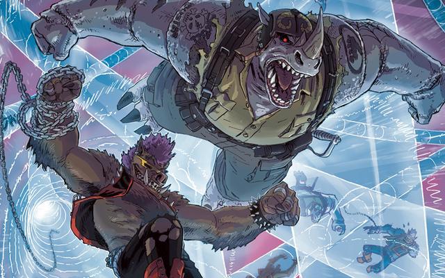 Cái nhìn đầu tiên về Cuộc phiêu lưu truyện tranh mới của Bebop và Rocksteady