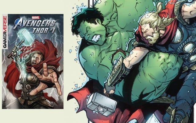 La bande dessinée du jeu Avengers de Thor est une nouvelle version d'une bagarre classique