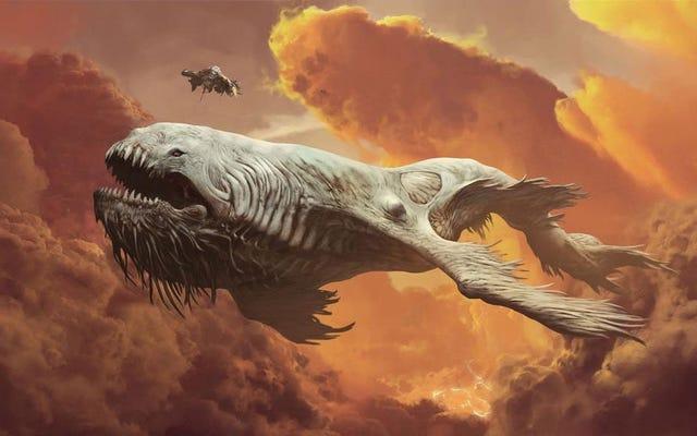 その信じられないほどの「スペースクジラ」短編映画からのコンセプトアート