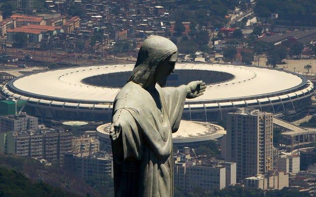 オリンピック主催者が請求書を支払うことができなかった後、リオのマラカナンスタジアムで電気がオフになりました