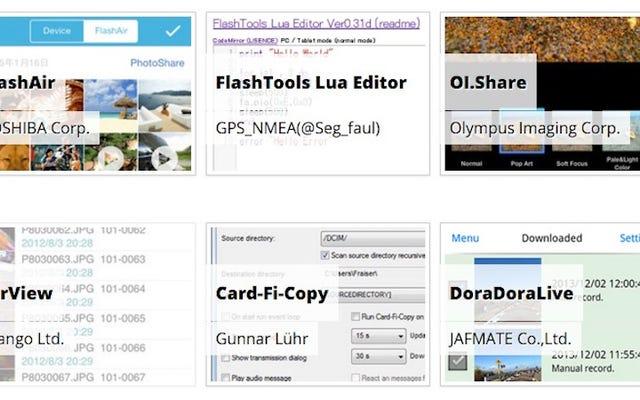 ลดความซับซ้อนของการใช้การ์ด SD FlashAir Wi-Fi ด้วยแอพเหล่านี้
