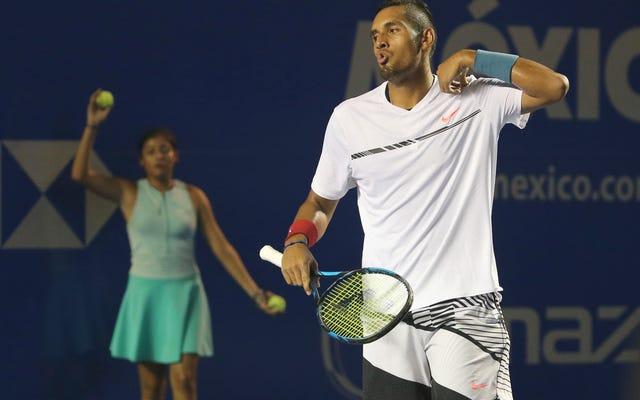 ニック・キリオスがたわごとをするとき、彼はテニスの未来です