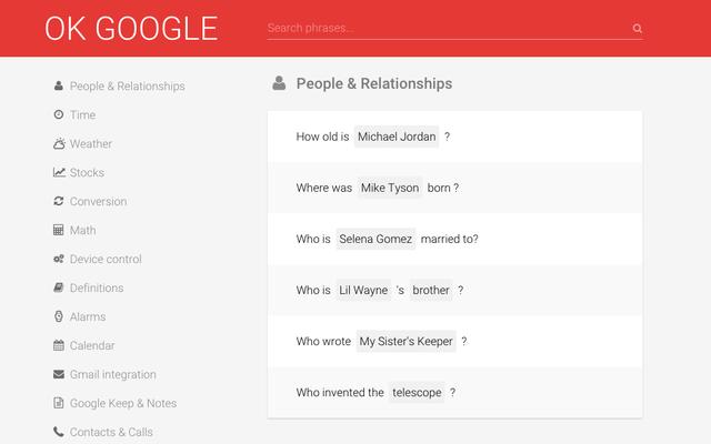 OKGoogleで新しいGoogleNowコマンドを学ぶ