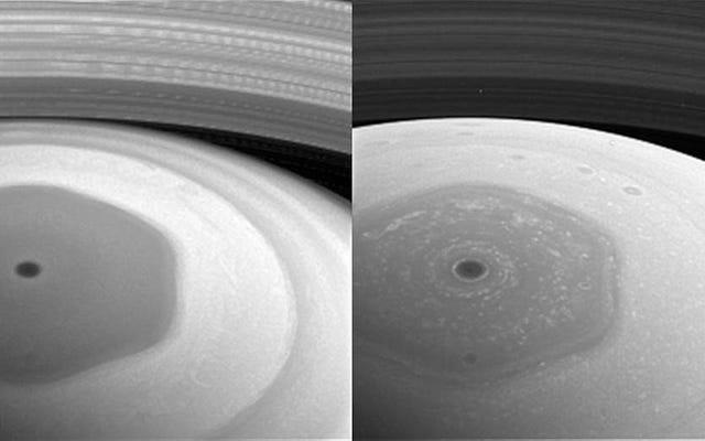 これらはカッシーニのリンググレージング軌道からの最初の輝かしい画像です