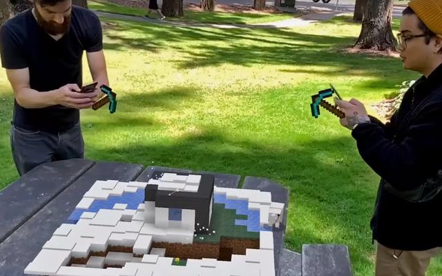 MinecraftEarthのゲームプレイは愛らしいようです