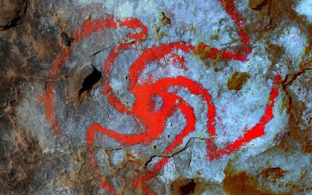 この奇抜な洞窟壁画は幻覚の結果ですか、それとももっと明白なものですか?