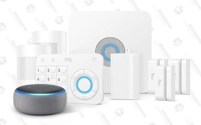 Économisez 50 $ sur un ensemble de sécurité Ring, plus un point d'écho gratuit