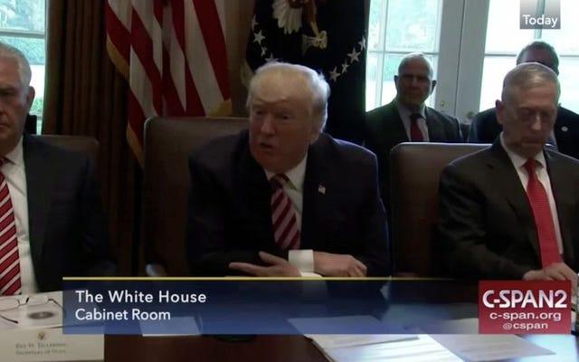 Trump'ın Kabine, Kendisini İyi Küçük Yiğitler Gibi Övmeye Dönüyor