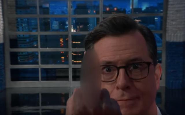 Setelah membaca cepat, Stephen Colbert memberikan pandangan panjangnya tentang laporan Mueller