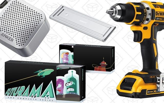 Dzisiejsze najlepsze oferty: Futurama, DEWALT Tools, Tiny Anker Speaker i nie tylko