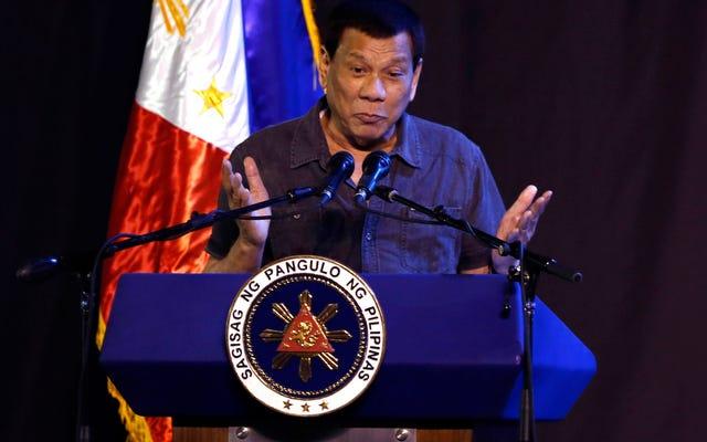 Le président philippin Rodrigo Duterte admet avoir agressé sexuellement une femme de ménage