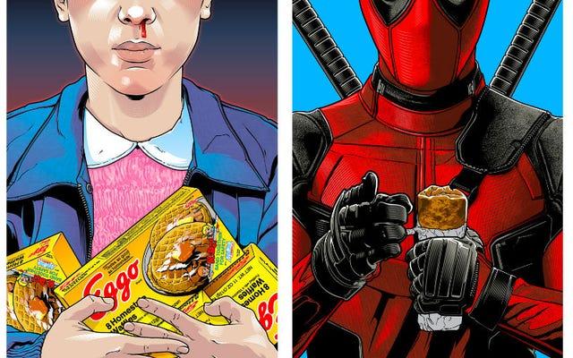 Две ваши любимые вещи, поп-культура и еда, собираются вместе на арт-шоу