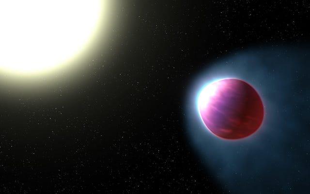 このフットボールの形をした惑星はヘビーメタルを漏らしています