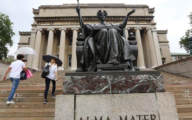 コロンビア大学は、洗練されたウェブサイトが大学院生に統一しないよう説得することを望んでいます