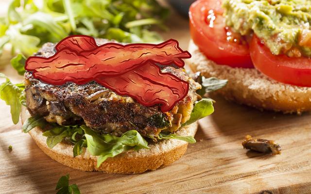 Zamów Burgera Wegetariańskiego Z Boczkiem