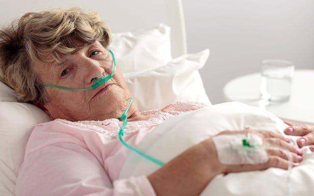 祖母は本当に死にかけ始めています