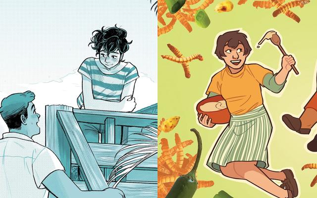 食べ物はブルームとミールの漫画本のロマンスの触媒です