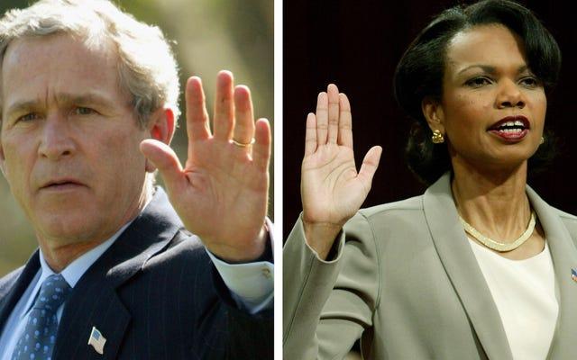 ¿Quién interpretará a George W. Bush y Condoleezza Rice en la próxima historia del crimen estadounidense?