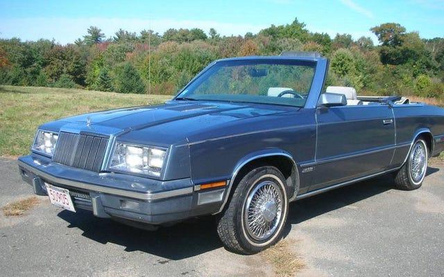 À 2750 $, trouverez-vous cette Chrysler LeBaron 1985 pour être un K très spécial?