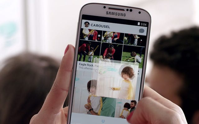 Sử dụng băng chuyền của Dropbox để giữ cho ảnh cũ không bị lộn xộn trên điện thoại của bạn