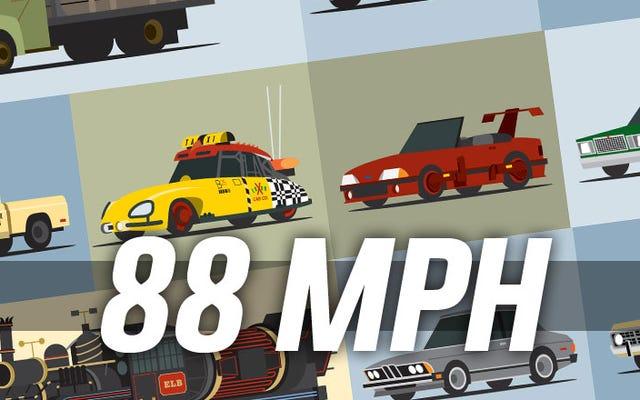 Oto ten plakat 88 samochodów z powrotem do przyszłości, których chciałeś