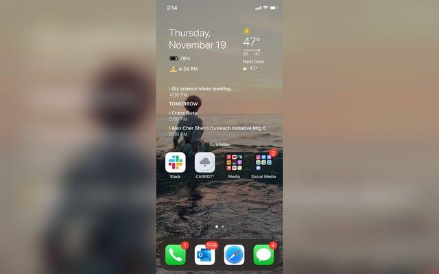 Scriptable potenzia i widget iOS 14 come nessun'altra app