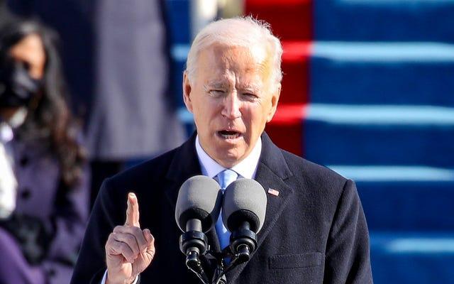 El discurso inaugural se extiende al segundo día mientras Biden continúa enumerando los problemas más importantes que enfrenta la nación
