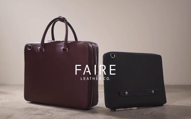 Peut-être que j'ai presque hâte de rencontrer les porte-documents de Faire Leather Co.