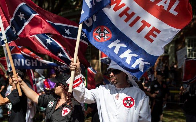 Les suprémacistes blancs ont tué plus de personnes aux États-Unis en 2017 que les musulmans, les Antifa et les joueurs agenouillés de la NFL réunis