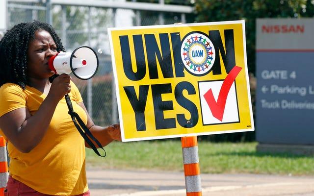 El esfuerzo de sindicalización de la planta Nissan en Mississippi fracasa después de ponerse realmente feo